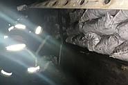На Хмельниччині на ходу спалахнула фура завантажена вугіллям: водій перебував у автомобілі