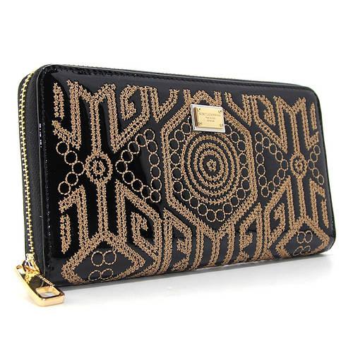 8a0cfe93293e Черный кошелек dg-60103 bla женский кожаный на молнии лаковый с орнаментом:  продажа, цена в Днепре. кошельки и портмоне от
