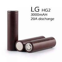 Аккумулятор 18650 LG HG2 1000mAh 3.7V 20A для электронных сигарет аналог