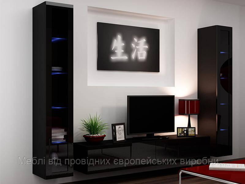 Витрина Vigo 180 Черный мат / Черный глянец Cama