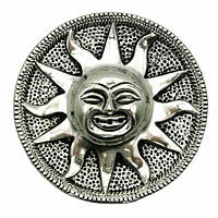 """Подставка под благовония """";Солнце""""; металл (d 9 см) (Непал) Код:18338K"""