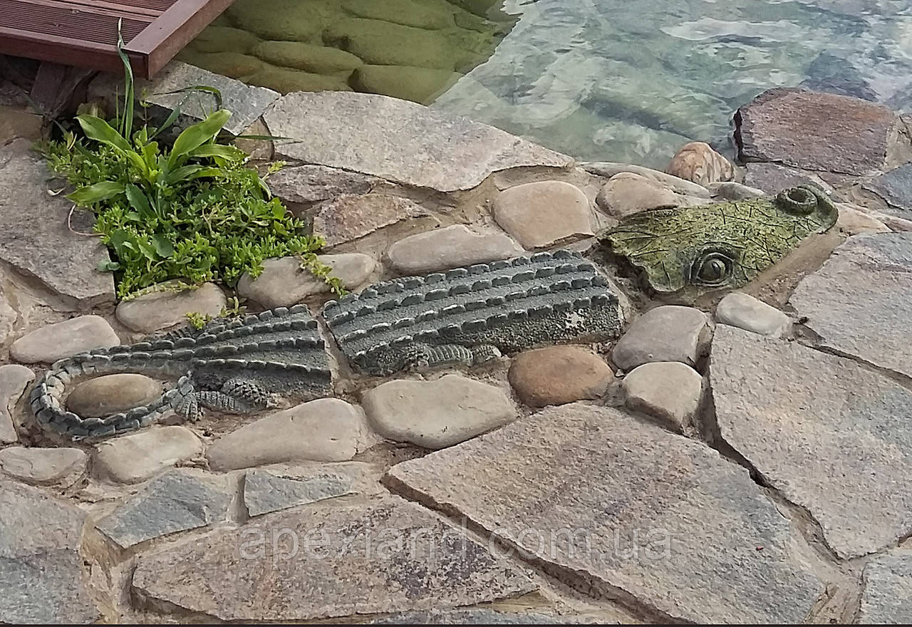 Крокодил декор для сада