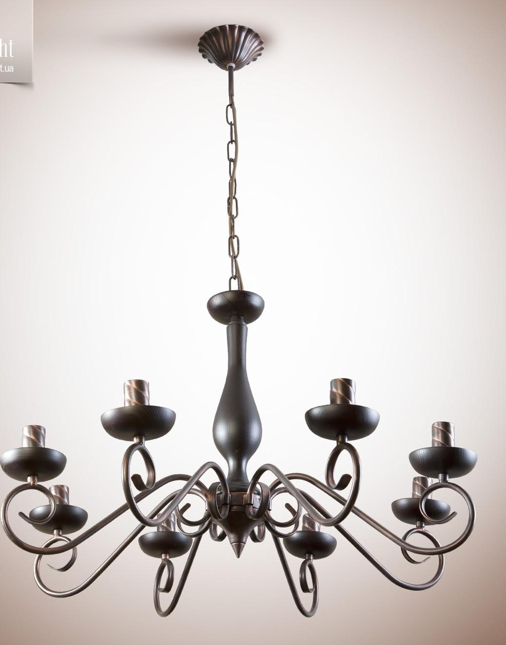 Люстра для большой комнаты, 8-ми ламповая, на цепи  19308