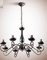 Люстра для большой комнаты, 8-ми ламповая, на цепи