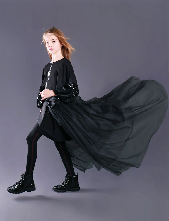 Фатиновая юбка-накидка (черная) тм Моне длина 80 см