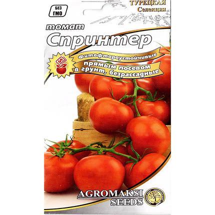 """Семена томата ультрараннего, низкорослого, безрассадного """"Спринтер"""" (0,4 г) от Agromaksi seeds, фото 2"""