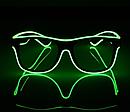 Очки светодиодные  солнцезащитные El Neon ray green неоновые, фото 3