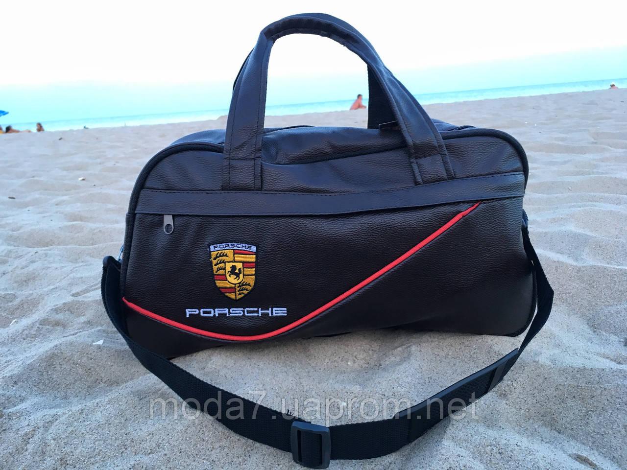 Спортивная сумка Porsche коричневая реплика