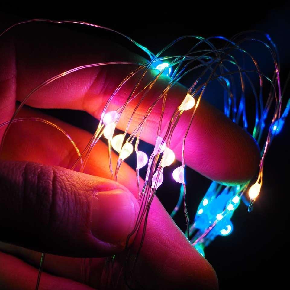 Светодиодная нить SoFun на батарейках 3м разноцветная