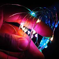 Светодиодная нить SoFun на батарейках 3м разноцветная, фото 1