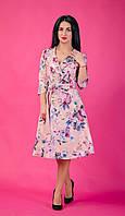 Молодежное женское платье в цветочный принт. Размеры 44-50, фото 1