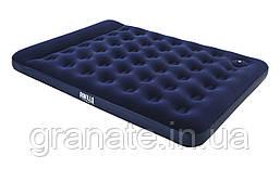Матрас надувной двухспальный со встроенным ножным насосом 203х152х22см