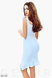 Легкое облегающее платье голубого цвета с рукавами-крылышками, фото 3