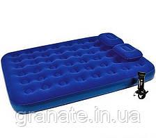 Надувной двухместный матрас+насос+ подушки 203х152х22 cм