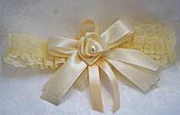 Подвязка на свадебное шампанское