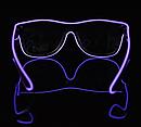 Очки светодиодные  солнцезащитные El Neon ray purple неоновые, фото 2