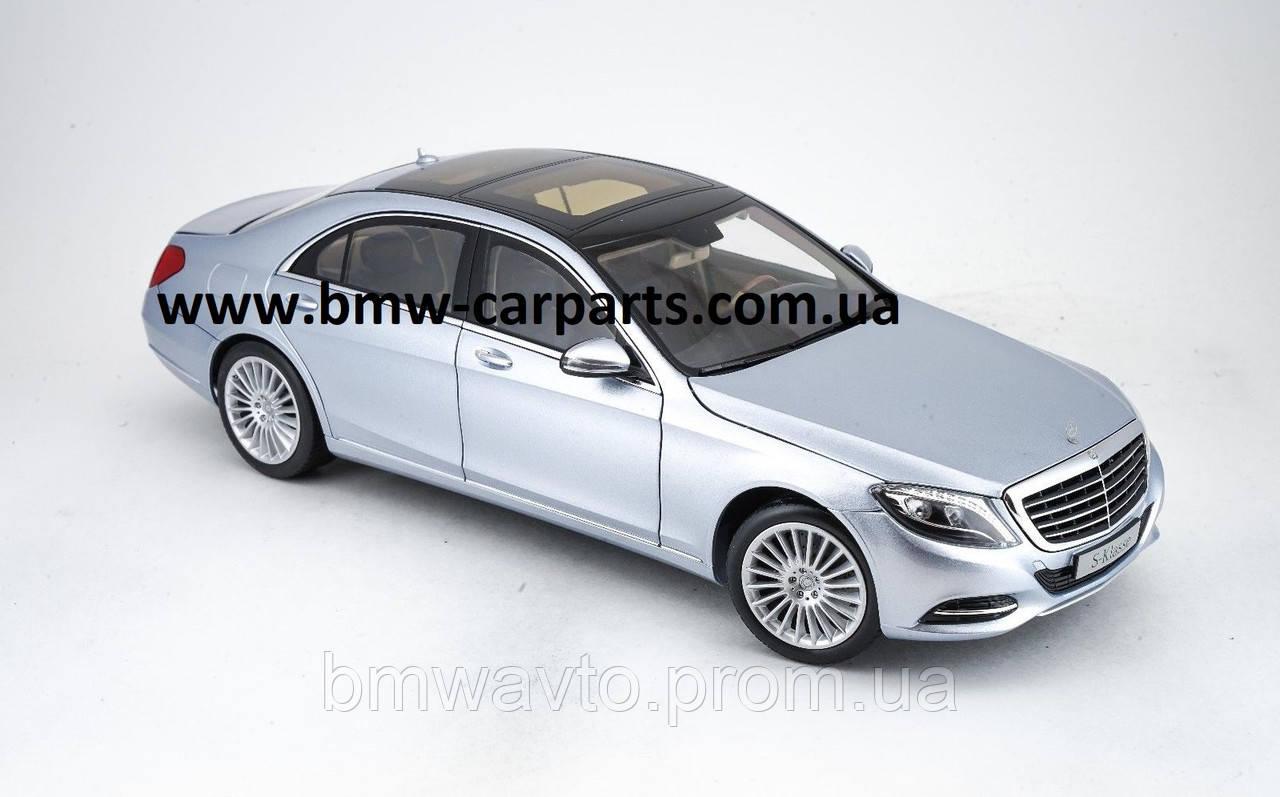 Модель Mercedes-Benz S-Class, Saloon, Diamond Silver Metallic, 1:18 Scale