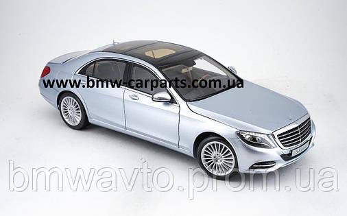 Модель Mercedes-Benz S-Class, Saloon, Diamond Silver Metallic, 1:18 Scale, фото 2