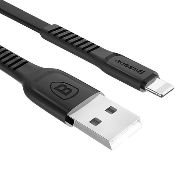Кабель быстрой зарядки Baseus for Iphone 2A Black, длина - 100 см. (CALZY-B01)
