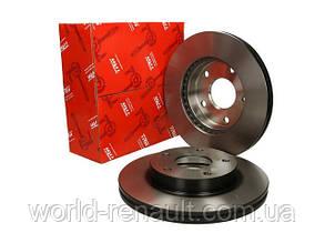 Передний тормозной диск на Рено Гранд Сценик III D=296мм / TRW DF6184