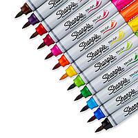 Sharpie Brush Tip (12 цветов) - перманентные маркеры из США (1810704)