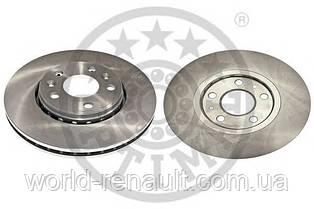 Передний тормозной диск на Рено Гранд Сценик III D=296мм / OPTIMAL BS-8306