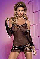 Прозрачное эротическое платье и рукава, эротическая одежда Черный