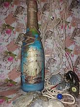 Декупаж(сувенирные бутылки)-оформление праздничных напитков под заказ. 0986474558