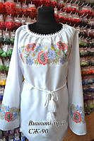 Женская заготовка сорочки СЖ-90 (домотканое полотно, белое)