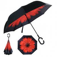 Зонт обратного сложения ветроустойчивый (рисунок