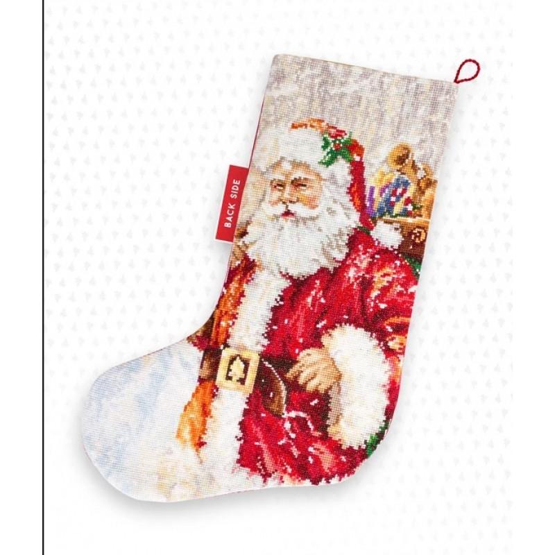 Набор для вышивки крестом Luca-S PM1230 «Новогодний сапожок»