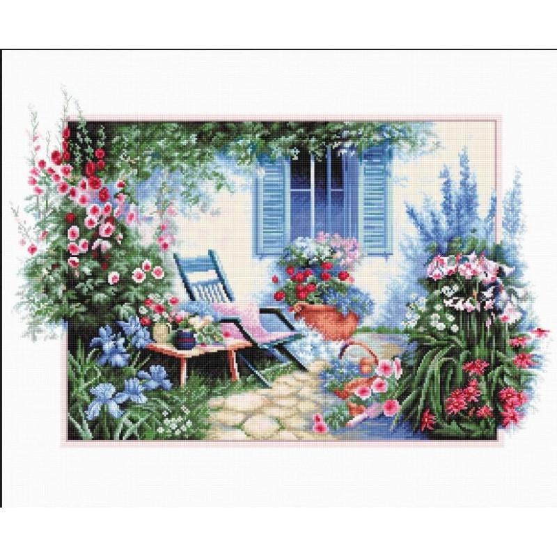 Набір для вишивки хрестом Luca-S B2342 «Квітковий сад»
