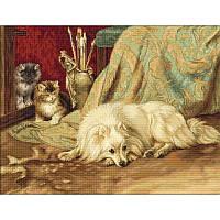 Набор для вышивки крестом Luca-S B582 «Cобака и кошки»