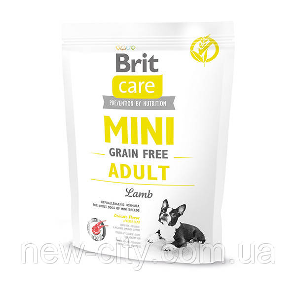 Brit Care Grain-Free Adult Mini Breed Lamb 0.4 kg малых пород