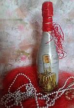 Декупаж(сувенирные бутылки)-оформление праздничных напитков под заказ 0986474558