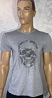 Мужские турецкие футболки с вышивкой череп, фото 1
