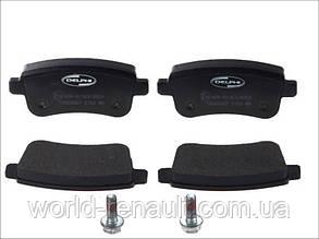 Комплект задних тормозных колодок (электро ручник) Рено Меган 3, Рено Флюенс/ DELPHI LP2153