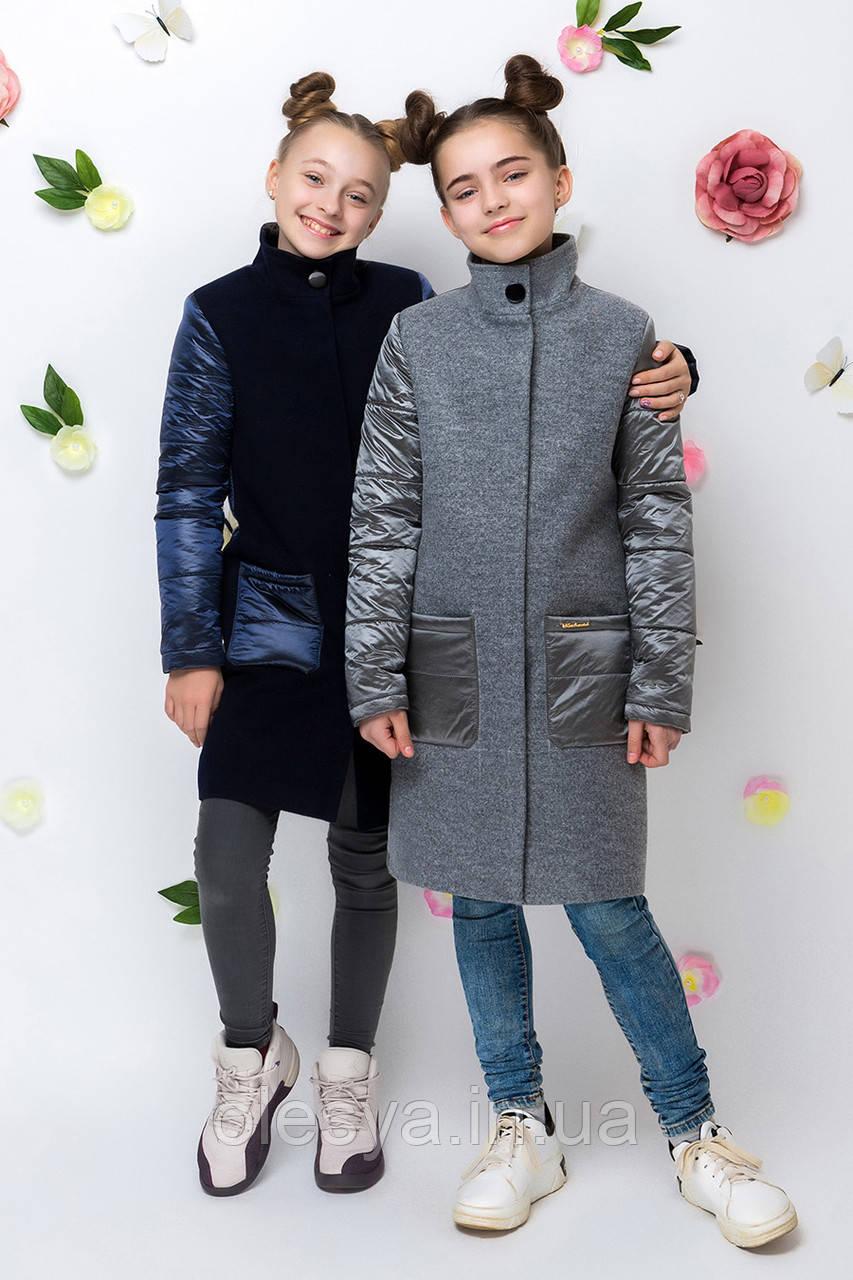 Пальто для девочки демисезонное VPD-2 Размеры 134-146 ТМ Barbarris