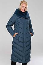 Женское зимнее классическое пальто Амаретта мех мутон р.48,56, фото 3