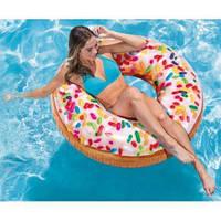 Надувной круг для плавания Intex 56263 «Пончик с присыпкой», 114 см