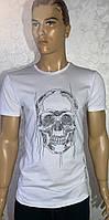 Трендовые турецкие мужские футболки с черепом, фото 1
