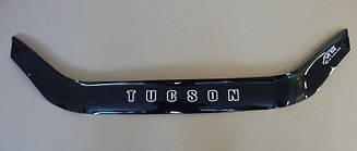 Дефлектор капота для Hyundai Tucson (без клыков) (2004-2009) (VT-52)