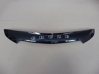 Мухобойка Chevrolet Cruze (короткий) (2009>) (VT-52) Дефлектор капота накладка