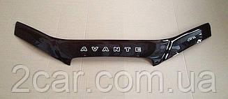 Дефлектор капота для Hyundai Avante (XD) (2000-2003) (VT-52)