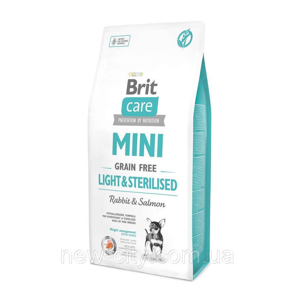 Brit Care  Grain-free MINI LIGHT & STERILISED 7kg,  беззерновой корм для стерилизов, контроль веса