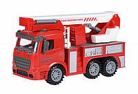 Машинка инерционная Truck Пожарная машина с подъемным краном, Same Toy