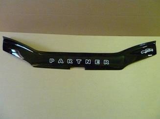 Мухобойка Peugeot Partner (1996-2002) (VT-52) Дефлектор капота накладка