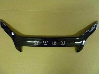 Мухобойка Chevrolet Aveo (седан) (2006>) (VT-52) Дефлектор капота накладка