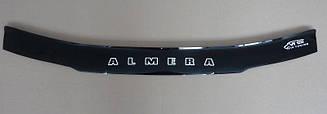 Мухобойка Nissan Almera (N15) (1995-2000) (VT-52) Дефлектор капота накладка