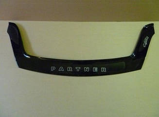 Мухобойка Peugeot Partner (2008>) (VT-52) Дефлектор капота накладка